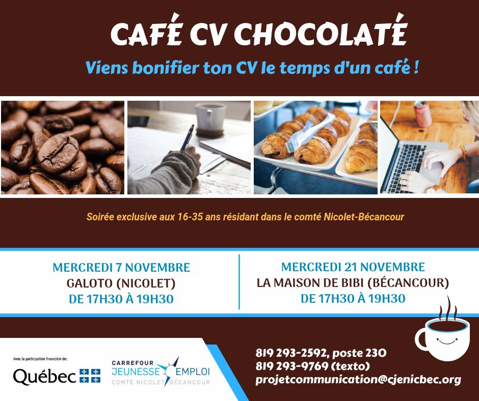 caf u00e9 cv chocolat u00e9